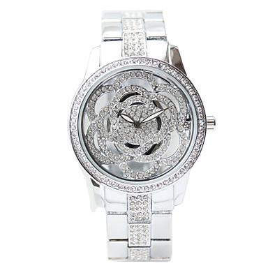 f26a7ee2457 Dame Luksus Ure Kjoleur Diamond Watch Japansk Quartz Rustfrit stål Sølv 50  m Kronograf Kreativ Analog