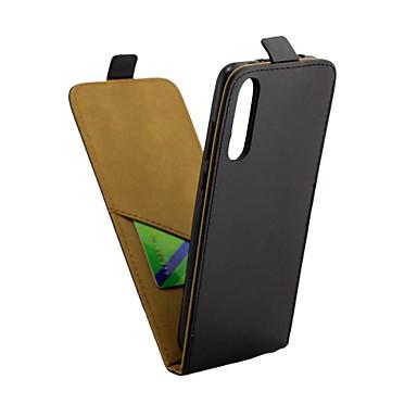 غطاء من أجل Huawei Huawei P20 Pro حامل البطاقات / قلب غطاء كامل للجسم لون سادة قاسي جلد PU