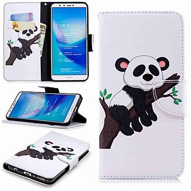 غطاء من أجل Huawei Huawei Y7(Nova Lite+) / Huawei Y6 (2018) / Huawei Y6 (2017)(Nova Young) محفظة / حامل البطاقات / مع حامل غطاء كامل للجسم باندا قاسي جلد PU