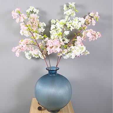زهور اصطناعية 1 فرع كلاسيكي فردي أسلوب بسيط الحديث أرطنسية ساكورا الزهور الخالدة أزهار الطاولة