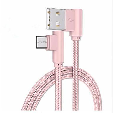 USB مصغر كابل 1m-1.99m / 3ft-6ft جديلي / الشحن السريع البلاستيك / نايلون محول كابل أوسب من أجل Samsung / Huawei / Xiaomi