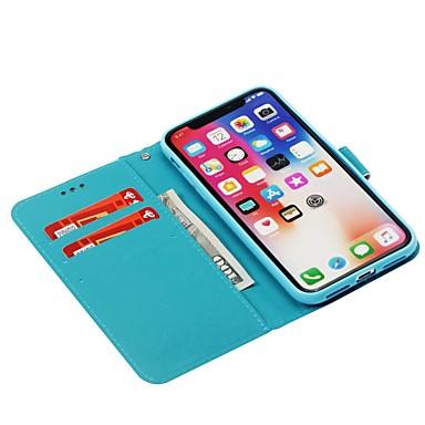 Resistente portafoglio carte iPhone X Porta Integrale pelle 8 8 Apple iPhone sintetica Plus Fiore di iPhone supporto credito Per iPhone X Con 8 A per Custodia 06748108 Plus iPhone decorativo q8UgvU