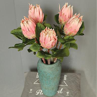 زهور اصطناعية 1 فرع كلاسيكي فردي أسلوب بسيط Wedding Flowers الزنابق الزهور الخالدة أزهار الطاولة