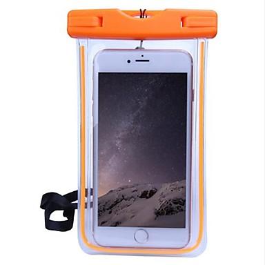 voordelige iPhone 5 hoesjes-hoesje Voor Apple iPhone X / iPhone 8 / iPhone 7 Waterbestendig / Transparant Buideltas Effen Zacht PC