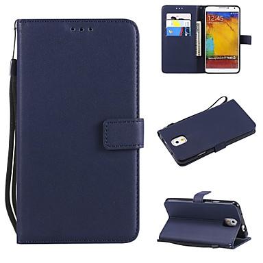 Недорогие Чехлы и кейсы для Galaxy Note 3-Кейс для Назначение SSamsung Galaxy Note 8 / Note 5 / Note 4 Кошелек / Бумажник для карт / Флип Чехол Однотонный Твердый Кожа PU