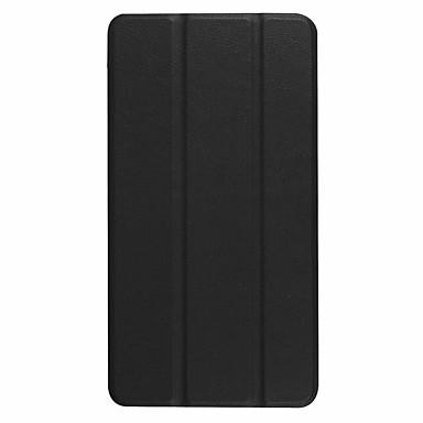 غطاء من أجل Lenovo Lenovo Tab 3 7 Plus TB-7703F / X مع حامل غطاء كامل للجسم لون سادة قاسي جلد PU