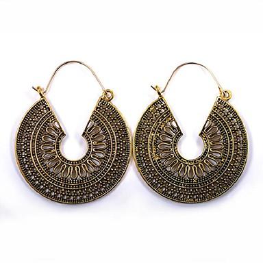 7a57fbd82382 Mujer Largo Pendientes colgantes Aretes damas Vintage Étnico Moda Joyas  Dorado   Negro   Plata Para