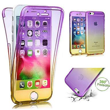 voordelige iPhone 5 hoesjes-hoesje Voor Apple iPhone X / iPhone 8 Plus / iPhone 8 Doorzichtig Volledig hoesje Kleurgradatie Zacht TPU