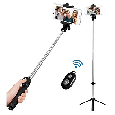 voordelige Bluetooth selfiestick-VORMOR Selfiestick Bluetooth Verlengbaar Maximale lengte 77 cm Voor Android / Universeel / iOS Android / iOS