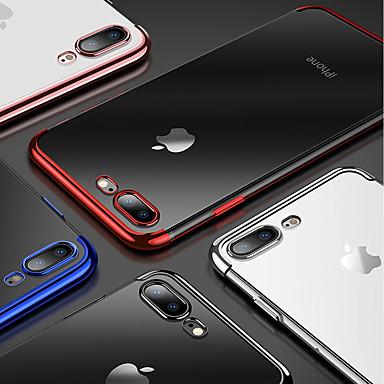 voordelige iPhone 6 Plus hoesjes-hoesje Voor Apple iPhone XS / iPhone XR / iPhone XS Max Beplating / Transparant Achterkant Effen Zacht TPU