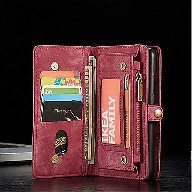 غطاء من أجل Huawei Huawei P20 / Huawei P20 Pro محفظة / حامل البطاقات / قلب غطاء كامل للجسم لون سادة قاسي جلد PU
