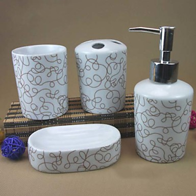 Set di accessori per il bagno nuovo design multiuso moderno ceramica 4pcs bagno singolo del for Accessori per bagno moderno