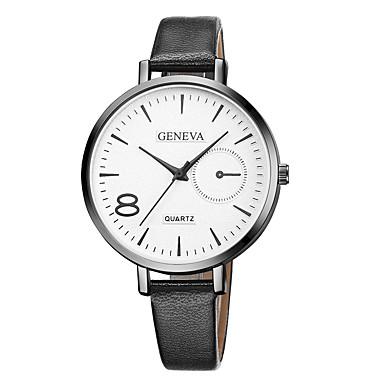 Geneva نسائي ساعة المعصم كوارتز جلد أسود / بني تصميم جديد ساعة كاجوال كوول مماثل سيدات كاجوال موضة - بني أسود / أبيض أبيض / البيج سنة واحدة عمر البطارية