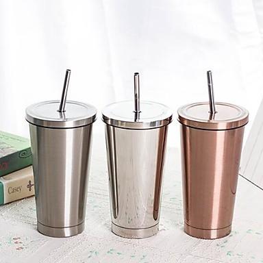 DRINKWARE أقداح القهوة ستانلس ستيل الاحتفاظ بالحرارة / هدية صديقها / هدية صديقة كاجوال / يومي