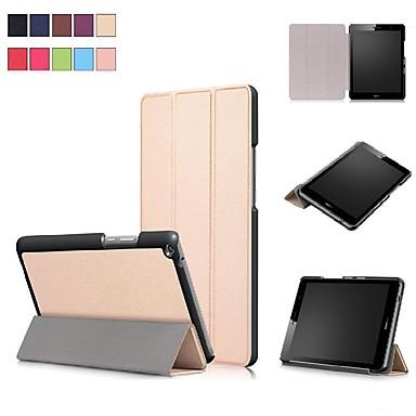 غطاء من أجل Huawei Huawei MediaPad T3 8.0 مع حامل / مغناطيس غطاء كامل للجسم لون سادة قاسي جلد PU