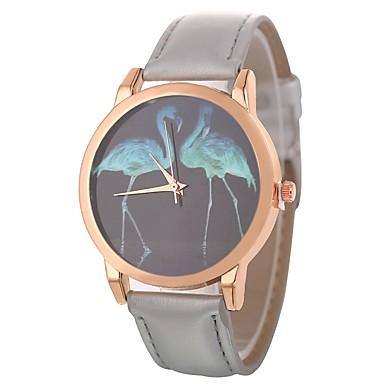 Xu™ نسائي ساعة المعصم كوارتز جلد اصطناعي أسود / الأبيض / أزرق إبداعي ساعة كاجوال طرد كبير مماثل سيدات كرتون موضة - أحمر أخضر أزرق سنة واحدة عمر البطارية