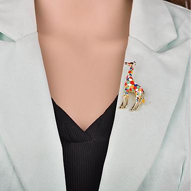 نسائي دبابيس 3D حيوان سيدات كرتون أوروبي بروش مجوهرات قوس قزح وردي فاتح من أجل حفلة ليلية المكتب & الوظيفة