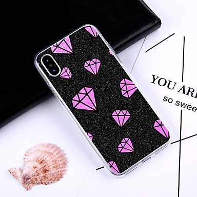 Plus Fantasia iPhone iPhone 06831200 Per X 8 iPhone per iPhone iPhone 8 Apple retro TPU Custodia Per X disegno Morbido Strass 8 Plus SHRq0