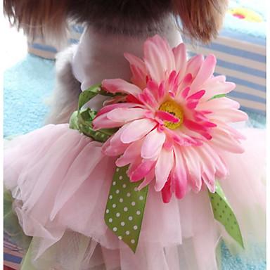 كلاب قطط حيوانات أليفة الفساتين ملابس الكلاب وردة زهور زهري جاكار القطن قطن كوستيوم من أجل هاسكي لابرادور Malamute ألاسكا كل الفصول انثى ستايل رياضي فساتين & تنورات