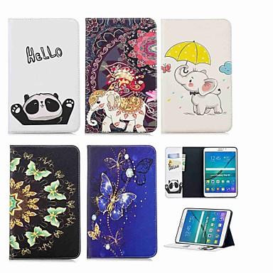 voordelige Samsung Tab-serie hoesjes / covers-hoesje Voor Samsung Galaxy Tab S2 8.0 Portemonnee / Kaarthouder / met standaard Volledig hoesje Olifant Hard PU-nahka
