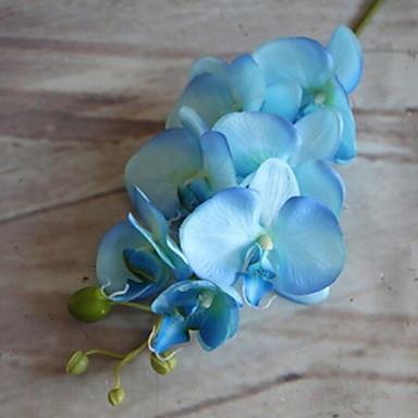 زهور اصطناعية 1 فرع كلاسيكي زهري الأوركيد / السحلبية أزهار الأرض