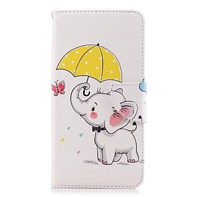 غطاء من أجل Huawei Huawei P20 / Huawei P20 Pro / Huawei P20 lite محفظة / حامل البطاقات / مع حامل غطاء كامل للجسم فيل قاسي جلد PU / P10 Lite