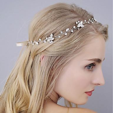 نسائي بسيط قماش تقليد الماس سبيكة مكعب زركونيا رباطات شعر مواعدة مهرجان - ورد