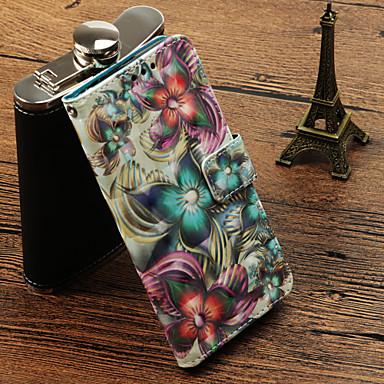 غطاء من أجل Samsung Galaxy S9 / S9 Plus / S8 Plus حامل البطاقات / مع حامل / قلب غطاء كامل للجسم زهور قاسي جلد PU