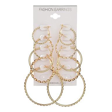 نسائي أقراط طارة 3D قلب سيدات شائع غلو الأقراط مجوهرات ذهبي من أجل هدية مناسب للبس اليومي 5 أزواج