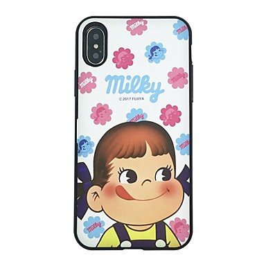 voordelige iPhone X hoesjes-hoesje Voor Apple iPhone X / iPhone 8 Plus / iPhone 8 Kaarthouder / Flip Achterkant Luipaardprint / dier / Cartoon Hard TPU