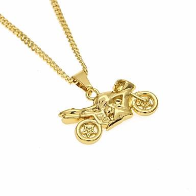 رجالي قلائد الحلي ستايل طويل الدراجات النارية شائع عارضة / رياضي موضة سبيكة ذهبي 60 cm قلادة مجوهرات 1PC من أجل شارع مناسب للخارج