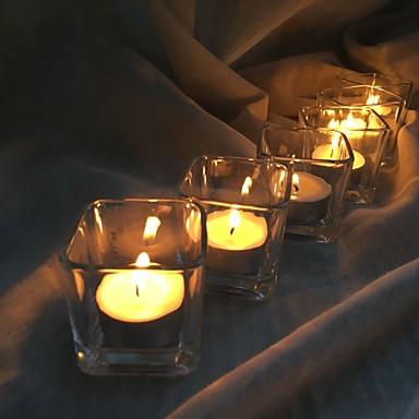 الحديثة / المعاصرة / أسلوب بسيط زجاج Candle Holders الشمعدانات 6PCS, شمعة / حامل شمعة