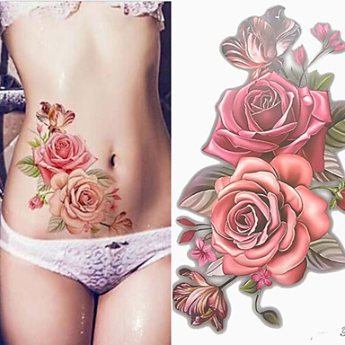 3 pcs Temporary Tattoos Smooth Sticker / Safety Arm / Shoulder Card Paper / Decal-style temporary tattoos