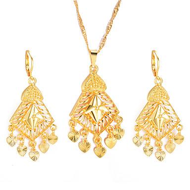 نسائي مجموعة مجوهرات سيدات, عرقي تتضمن أقراط قطرة أقراط طارة قلائد الحلي مفاتن ذهبي من أجل مناسب للحفلات هدية
