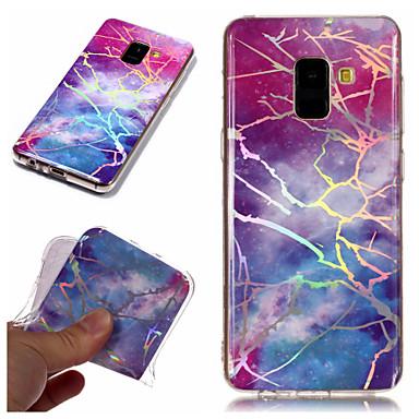 غطاء من أجل Samsung Galaxy A6 (2018) / A6+ (2018) / A3 (2017) تصفيح / IMD / نموذج غطاء خلفي حجر كريم ناعم TPU
