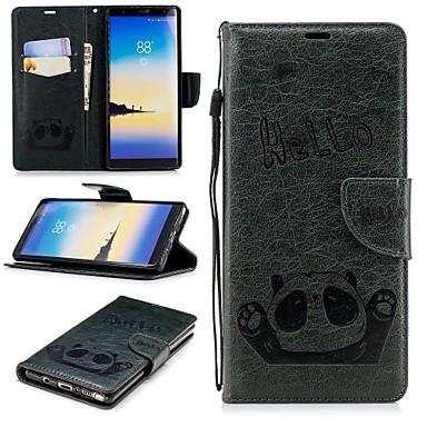 غطاء من أجل Samsung Galaxy Note 9 / Note 8 محفظة / حامل البطاقات / مع حامل غطاء كامل للجسم باندا قاسي جلد PU