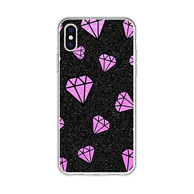 Apple retro TPU iPhone iPhone Custodia Plus Plus Fantasia iPhone 8 Per disegno Per Strass iPhone X 8 iPhone Morbido per X 06831200 8 5wqvAqT
