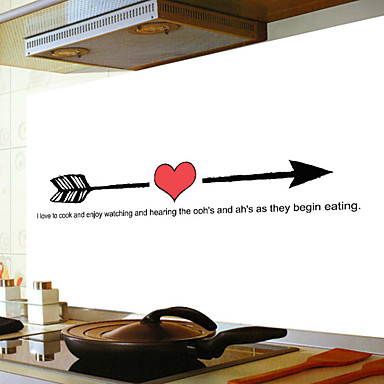 لواصق حائط مزخرفة - الكلمات ونقلت ملصقات الحائط الأحرف مطبخ / غرفة الطعام / قابل اعادة الوضع