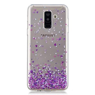 غطاء من أجل Samsung Galaxy A6 (2018) / A6+ (2018) / A3 (2017) شفاف / نموذج غطاء خلفي قلب ناعم TPU