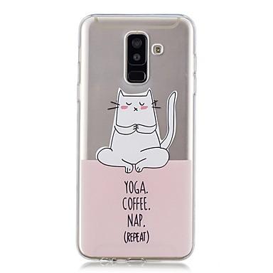 غطاء من أجل Samsung Galaxy A6+ (2018) / A6 (2018) شفاف / نموذج غطاء خلفي قطة ناعم TPU إلى A6 (2018) / A6+ (2018) / A3 (2017)