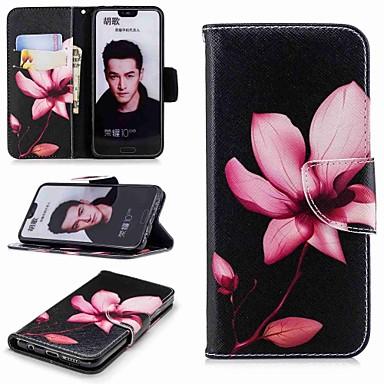 غطاء من أجل Huawei Honor 7X / Huawei Honor 7C(Enjoy 8) / Honor 6X محفظة / حامل البطاقات / مع حامل غطاء كامل للجسم زهور قاسي جلد PU