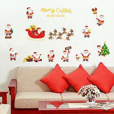 لواصق حائط مزخرفة - الناس ملصقات الحائط كريستمس غرفة الجلوس / غرفة النوم / دورة المياه