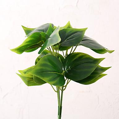 زهور اصطناعية 1 فرع كلاسيكي أسلوب بسيط نباتات أزهار الطاولة