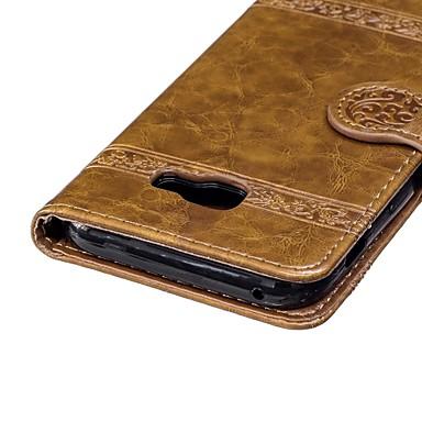 غطاء من أجل Samsung Galaxy A3 (2017) / A5 (2017) / A8 2018 محفظة / حامل البطاقات / مع حامل غطاء كامل للجسم زهور قاسي TPU