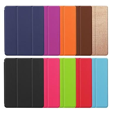 غطاء من أجل Apple iPad (2018) / iPad (2017) مع حامل / مغناطيس غطاء كامل للجسم لون سادة قاسي جلد PU
