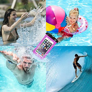 voordelige iPhone X hoesjes-hoesje Voor Apple iPhone X / iPhone 8 Plus / iPhone 8 Waterbestendig Buideltas Effen Zacht TPU