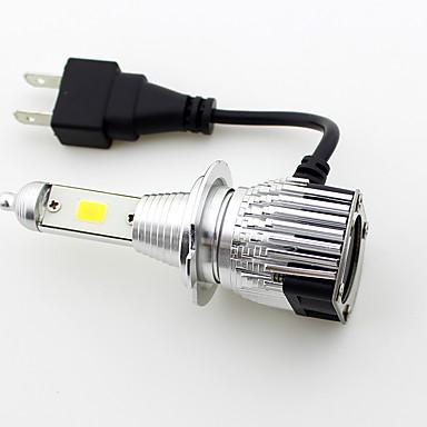 billige Bilpærer med LED-SO.K 2pcs 9003 / H7 / H4 Bil Elpærer 30 W Integrert LED / COB / Høypresterende LED 8000 lm 2 LED utvendig Lights Alle år