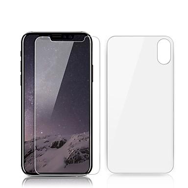 voordelige iPhone X screenprotectors-AppleScreen ProtectoriPhone X 9H-hardheid Voorkant- & achterkantbescherming 2 pcts Gehard Glas