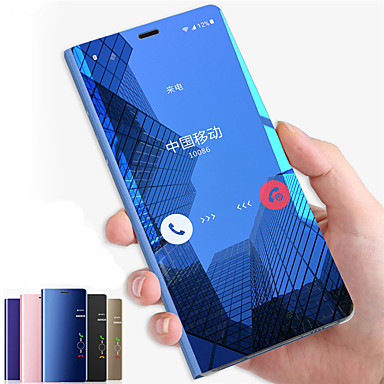 voordelige Galaxy Note-serie hoesjes / covers-hoesje Voor Samsung Galaxy Note 9 / Note 8 / Note 5 met standaard / Spiegel / Flip Volledig hoesje Effen Hard PC