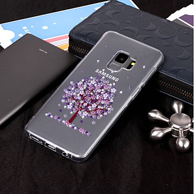 voordelige Galaxy S-serie hoesjes / covers-hoesje Voor Samsung Galaxy S9 / S9 Plus / S8 Plus IMD / Transparant / Patroon Achterkant Boom Zacht TPU